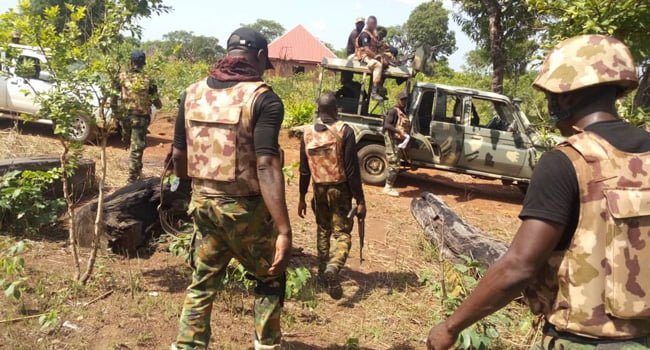 Troops of operation Hadin Kai arrests ISWAP fighters