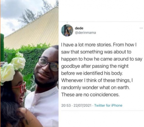 #EndSARS: Lady Claims Her Boyfriend Ghost Visited Her