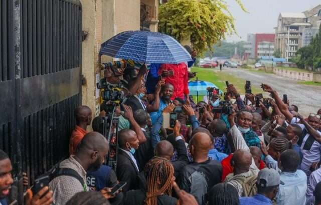 Heavy Security Present As Kanu's Supporters Protest