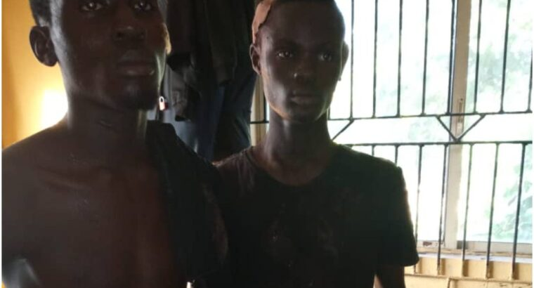 Police arrest two suspected cultists, recover axe, assorted charms