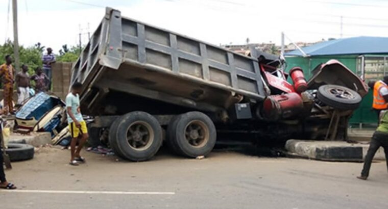 Three crushed to death as truck rams into building in Ijebu-Ode